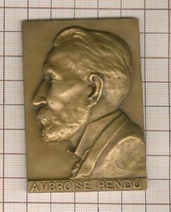 Paris plaque 176g ! Ambroise Rendu conseiller municipal