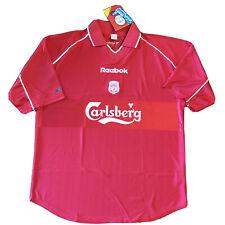 2000/02 Liverpool Home Jersey Large Reebok Carlsberg Soccer Football RED NEW