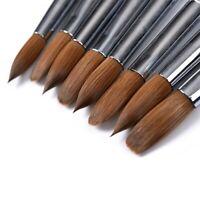 8#12#Kolinsky Sable Acrylic Nail Art Brush Crimped Red Wood Handle100%sable tool
