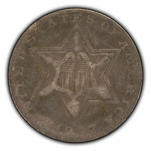 1857 3c Silver Three-Cent Piece - Type 2 - SKU-Z2408