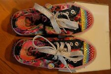 Girls SKECHERS EUC Girls US 11  PEACE SIGN SPARKLES