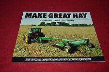 John Deere Hay Cutting Equipment for 1991 Dealer Brochure YABE11