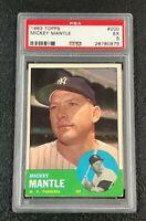 New York Yankees Mickey Mantle 1963 Topps #200 PSA 5 Ex