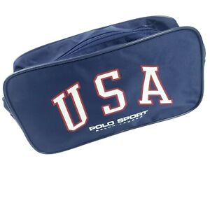 USA Ralph Lauren POLO SPORT Travel Toiletry Bag Shaving Bag Pouch Blue NEW