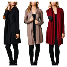 USA Women Long Sleeve Knit Cardigan Outerwear Casual Open Front Draped Sweater
