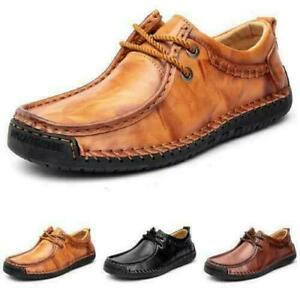 38-48 Men Faux Leather Driving Moccasins Shoes Outdoor Walking Sports Non-slip F