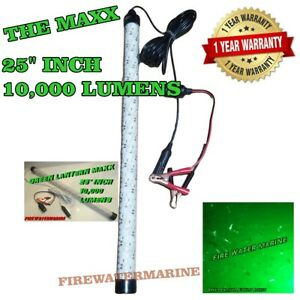 12V MAXX LED GREEN UNDERWATER SUBMERSIBLE NIGHT FISHING LIGHT crappie ice squid