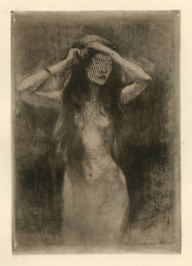 Albert Besnard original etching