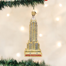OLD WORLD CHRISTMAS EMPIRE STATE BUILDING N.Y. CITY GLASS XMAS ORNAMENT 20059