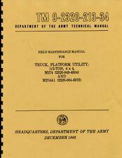 TM9 2320 213 34 ~ Field Maint Manual ~ M274 & M274A1  ~ Mule ~ 1963 ~ Reprnt