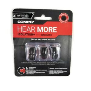 Comply Hear More Premium Earphone Tips, Isolation+ with WAXGUARD, 3 Pairs