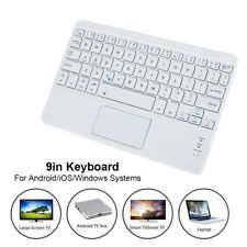 9'' Ultra Slim Wireless Bluetooth Keyboard w/ Touchpad For Windows Android iOS