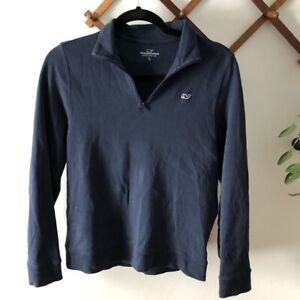 Vineyard Vines Quarter Zip Pullover Sweater Boys size L (16) EUC Navy