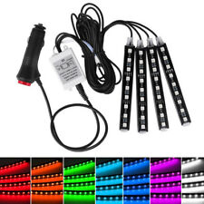4 x 9 LED Bluetooth RGB Multicolore Auto Vano piedi Interno Luce