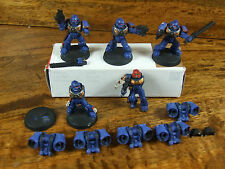 5 PLASTIC ASSAULT MARINES PAINTED (374) MISSING 3 ARMS