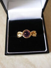 9CT GOLD FINE AMETHYST DRESS RING BNIB MADE IN ENGLAND PURE QUALITY