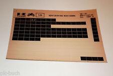 Microfich Ersatzteilkatalog Kawasaki KDX 125 SR Stand 10/1990