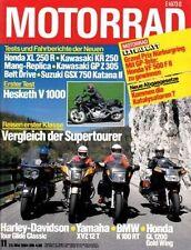 M8411 + Test HESKETH V 1000 + SUZUKI GSX 750 Katana II + MOTORRAD 11/1984