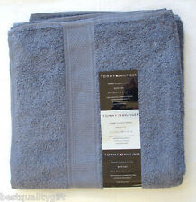 "NEW TOMMY HILFIGER CLASSIC STEEL BLUE 100% COTTON BATH TOWEL 27"" x 54"""
