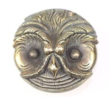 OWL BRASS ROUND  MATCH SAFE VESTA CASE