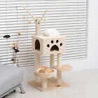 "PawHut 47"" Cat Tree Kitten Tower Pet Play Scratching Post W/ Condo Pet Supplier"