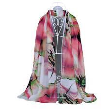 Hot Sale Women Chiffon Soft Scarves Long Wraps Shawl Beach Colors Silk Scarf T