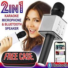 Wireless Karaoke Q7 Microphone Bluetooth Speaker USB KTV Player US