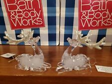 BATH & BODY WORKS CRYSTAL DEER CANDLE TOPPER or TREE ORNAMENT X2