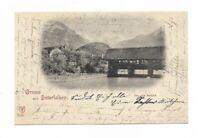 """AK von 1902, INTERLAKEN, Berner Oberland, """"Alte Brücke"""""""