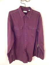 mens shirt, sable and stone, xl, cotton, pearl snaps, western, brown shirt, xl