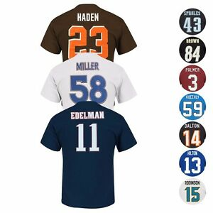"""NFL """"Eligible Receiver"""" Current Player Name & # Jersey T-Shirt Collection Men's"""