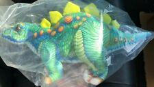Plush Stegosaurus Dinosaur 14� blue/green