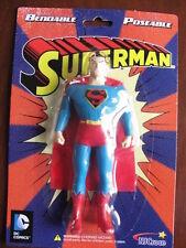 DC Comics SUPERMAN Bendable Poseable Action Figure - NEW