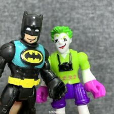 2x Imaginext DC Super Friends Batman & Green Joker Figure Fisher Price boy toys