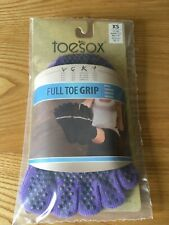 ToeSox Full Toe Ankle Non Slip Grip Workout Dance Yoga Pilates Socks XS UK 1-3