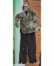 Lighted Animated Talking Ghoulish Camo Skeleton Halloween Creature Decoration