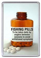 FISHING PILLS. Fridge Magnet