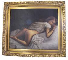 """Art.N.44 Dipinto Olio Su Tela """"Nudo"""""""