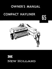 New Holland 65 Baler Hayliner Operators Owners Book Guide Manual Cd