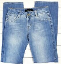 Calvin Klein Womens Lean Bootcut Jeans Size 2 (28x34) Stretch Flap Pockets Light