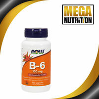 NOW Foods Vitamin B-6 100mg 100 Caps | Nervous System Health Vitamins Digestion