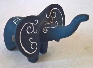 "Vintage / Rare ""HAGEN RENAKER POTTERY"" Black Bisque Elephant Figure"
