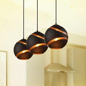 Glass Pendant Lights Modern Home Black Ceiling Lamp Bar Lighting Kitchen Light