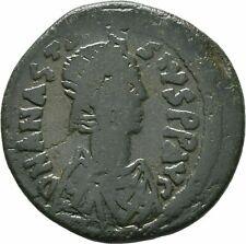 Ancient Byzantine 498-518 Anastasius I Constantinople Half Follis