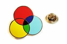 CMYK Graphic Design Artist Color Wheel Printing Hat Jacket Tie Tack Lapel Pin