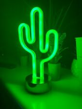 5 x Led Cactus Neon Signs Room Home Decoration Battery Operated Night Light