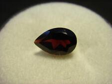 Garnet Gemstone Pear Cut 10mm x  7mm 1.50 carat faceted natural Gem