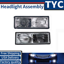 TYC 2X Left + Right Headlight lamp Assembly Kit For 1987-1990 Chevrolet Caprice