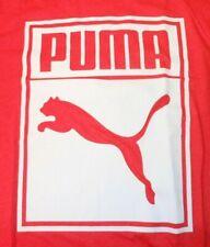 NEW PUMA RED & WHITE BRAND LOGO GRAPHICS T SHIRT. SIZE L
