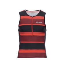 Zoot - Men's Performance Tri Tank - Race Day /Red Stripe - Large
